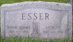 Wilhelmine Esther Minnie <i>Adams</i> Esser