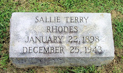 Sallie <i>Terry</i> Rhodes