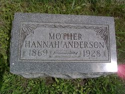 Hannah Sophia <i>Johnson</i> Anderson