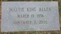Mattie Elizabeth <i>King</i> Allen