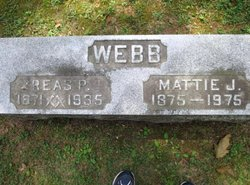 Martha J. Mattie <i>Knight</i> Webb