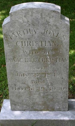 Martha Jane <i>Jones</i> Christian