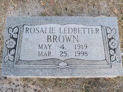 Rosalie <i>Ledbetter</i> Brown