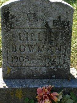 Lillie Bowman