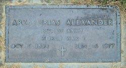 PFC Arza Urias Alexander