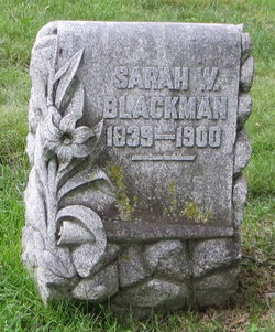 Sarah W. <i>Winegar</i> Blackman