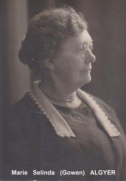 Marie Selinda <i>Gowen</i> Algyer