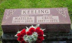 Matilda E <i>Miller</i> Keeling