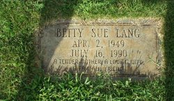 Betty Sue <i>Nixon</i> Lang