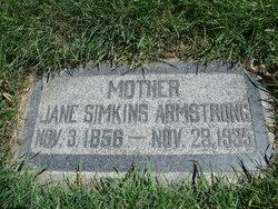 Mary Ann Jane <i>Simkins</i> Armstrong