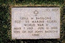 Sgt Lena Mae <i>Riggi</i> Basilone