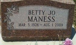 Betty Jo <i>Wells</i> Maness