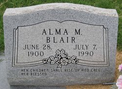 Alma M <i>Rueffer</i> Blair