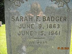 Sarah Frances <i>Horten</i> Taylor Badger