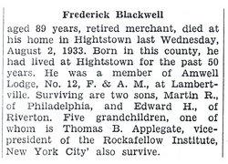 Frederick Blackwell