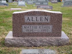 Mattie Ethyl <i>Hicks</i> Allen