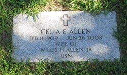 Celia E <i>Wormell</i> Allen