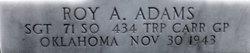 Sgt Roy A Adams