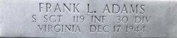 SSgt Francis Logan Frank Adams