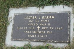 Sgt Lester J Bader