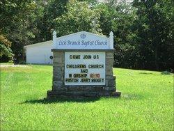 Lick Branch Baptist Cemetery