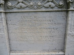 Annie Maria <i>Tapley</i> Sargeant