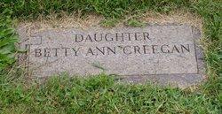 Elizabeth Ann Betty Creegan