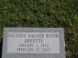 Mildred Wagner <i>Boyer</i> Arnette