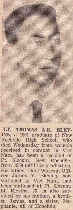 Lieut Thomas A K Blevins