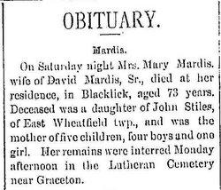 Mary Polly <i>Stiles</i> Mardis
