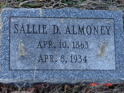Sarah Sophrone <i>Davis</i> Almony