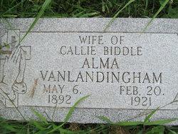 Alma <i>Vanlandingham</i> Biddle