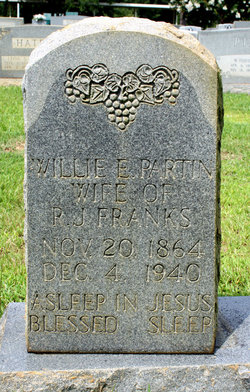 Willie E. <i>Partin</i> Franks