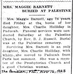Margaret <i>Dobbins</i> Barnett
