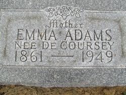 Emma <i>DeCoursey</i> Adams