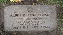 Pvt Albin B Zakrzewski