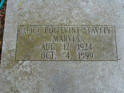Alice <i>Poitevint</i> Stavely/Maryes