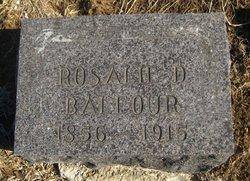 Rosalie D <i>Manlove</i> Balfour