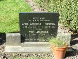Anna Rochus <i>Boersma</i> Andringa