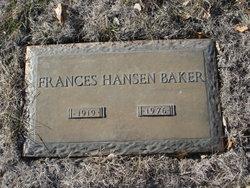 Frances <i>Hansen</i> Baker