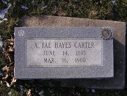 Axie Fae <i>Hayes</i> Carter