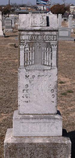M. P. Beck