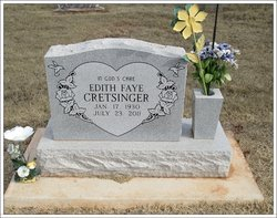 Edith Faye <i>Davis</i> Cretsinger