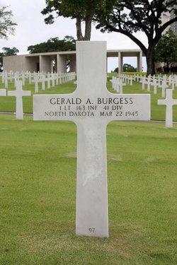 1Lt Gerald A Burgess