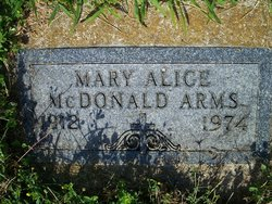 Mary Alice <i>McDonald</i> Arms