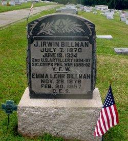 Emma <i>Lehr</i> Billman