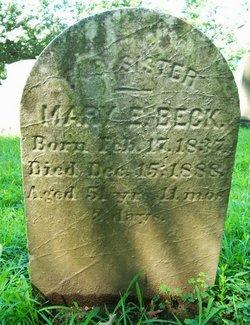 Mary E <i>Reiter</i> Beck
