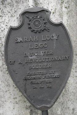 Sarah Lucy <i>Legg</i> Legg