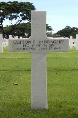 PFC Clifton E Vandagriff