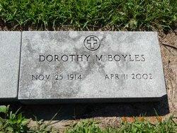 Dorothy M <i>Crossley</i> Boyles